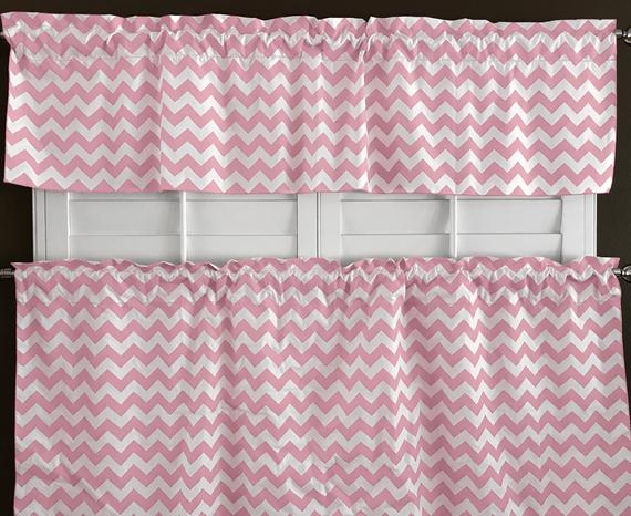 Inspiration about Lovemyfabric Cotton Blend Crazy About Chevron Kitchen Curtain Tier/valance  Window Treatment With Regard To Cotton Blend Grey Kitchen Curtain Tiers (#34 of 47)