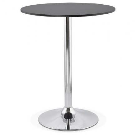 Lucie Design High Bar Table In Wood Chrome Metal Legs (Ø 90 For Newest Lucy Bar Height Dining Tables (#8 of 20)