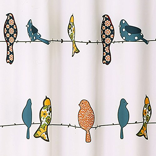 "Lush Decor Lush Décor Rowley Birds Shower Curtain, 72"" X 72 Intended For Rowley Birds Valances (View 17 of 50)"