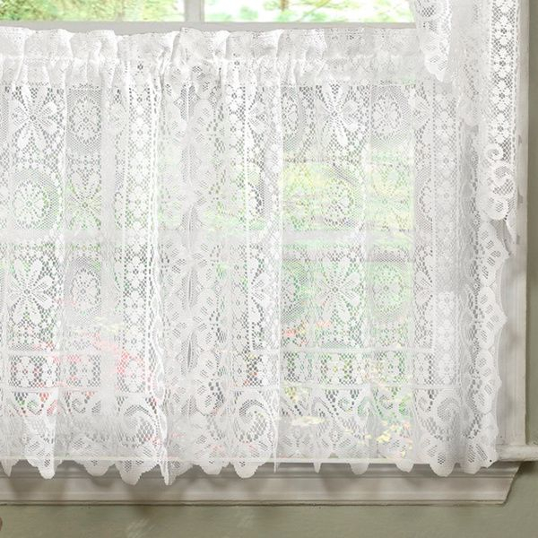 Inspiration about Luxurious Old World Style White Lace Kitchen Curtains Tiers With Luxurious Kitchen Curtains Tiers, Shade Or Valances (#2 of 50)