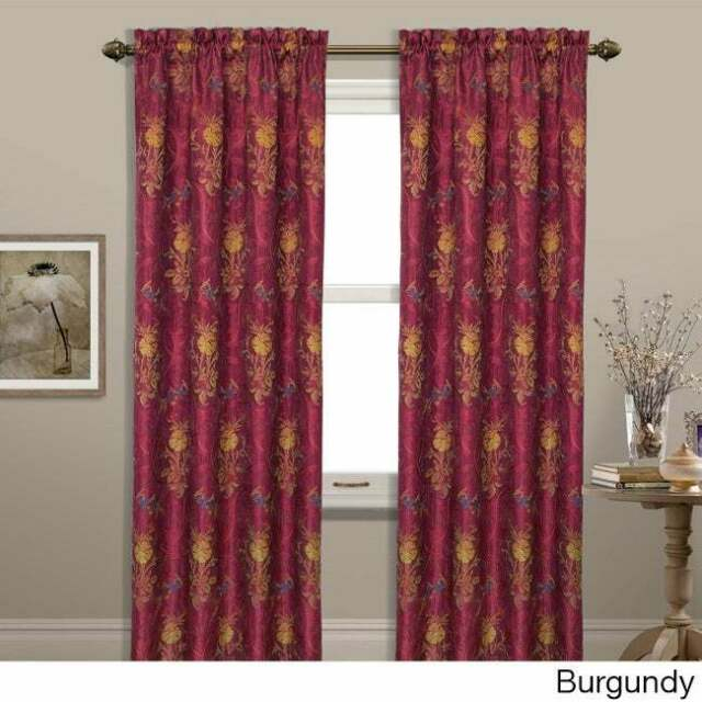 Luxury Collection Jewel Light Filtering Single Curtain Panel With Luxury Light Filtering Straight Curtain Valances (View 15 of 47)