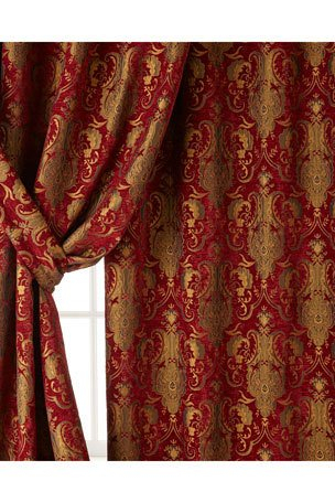 Luxury Curtains & Curtain Hardware At Neiman Marcus With Regard To Kitchen Burgundy/white Curtain Sets (#39 of 50)