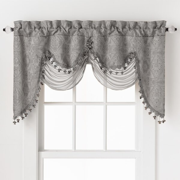 Luxury Curtains With Valance | Wayfair Pertaining To Luxury Light Filtering Straight Curtain Valances (View 9 of 47)