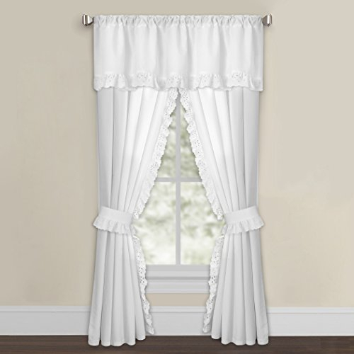 Luxury Microfiber Eyelet Valance – Window Valance – Perfect Inside Solid Microfiber 3 Piece Kitchen Curtain Valance And Tiers Sets (#29 of 50)