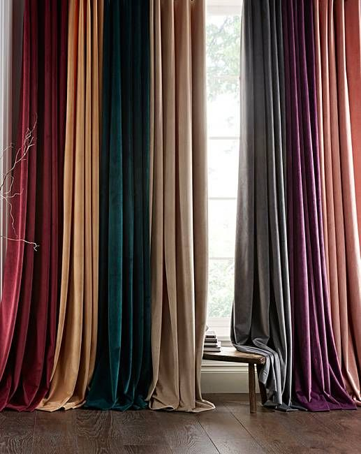 Inspiration about Luxury Velour Lined Eyelet Curtains In 2019 | Pleated Intended For Luxury Light Filtering Straight Curtain Valances (#40 of 47)