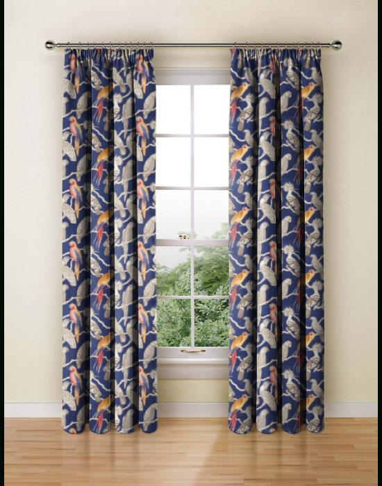 Made To Measure Curtains Aviary Marine – Made To Measure Curtains Iliv |  Curtains And Blinds 4 Homes Within Aviary Window Curtains (View 21 of 30)