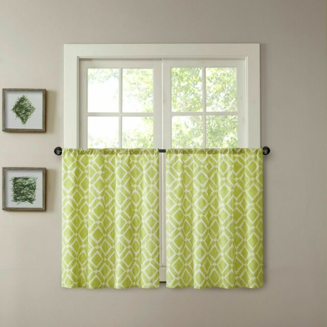 Madison Park Print Light Filtering Curtain Valance Inside Light Filtering Kitchen Tiers (View 5 of 50)