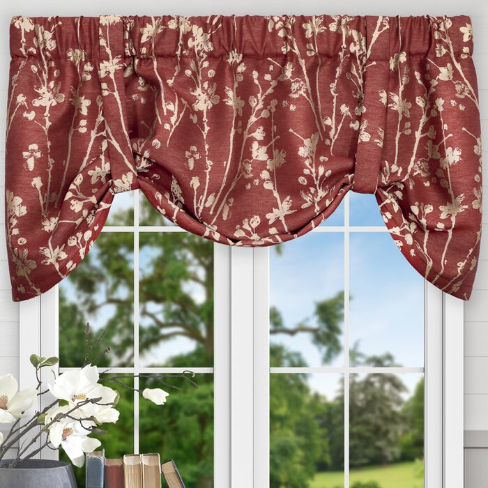 "Mahtomedi Floral 50"" Curtain Valance With Luxury Light Filtering Straight Curtain Valances (View 44 of 47)"