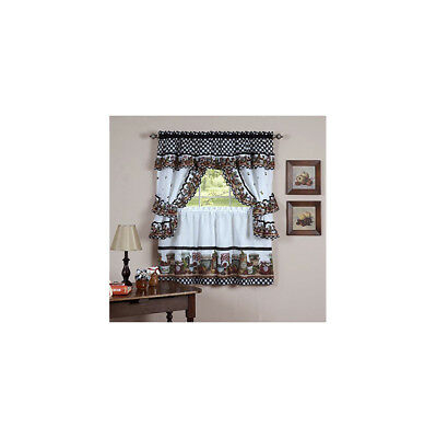 Mainstays Home Cottage Ivy Green Tier & Swag Set Kitchen With Regard To Cottage Ivy Curtain Tiers (#38 of 49)