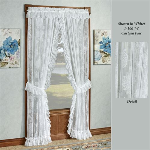 Maison Semi Sheer Lace Ruffled Priscilla Curtains With Regard To Elegant White Priscilla Lace Kitchen Curtain Pieces (View 21 of 30)