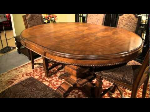 Marbella Round/oval Convertible Height Pedestal Dining Tablea.r.t (View 13 of 20)