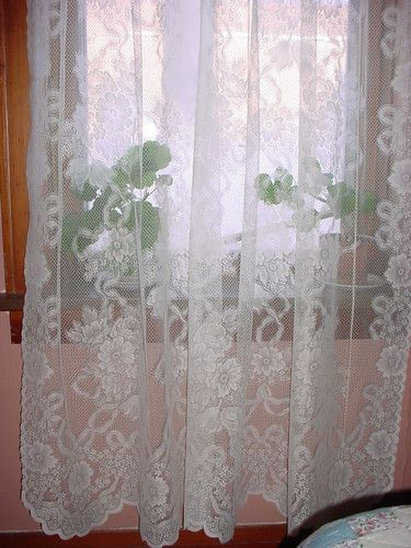 Martha Stewart Single Sheer Cream Lace Curtain Panel 82 With Ivory Knit Lace Bird Motif Window Curtain (View 34 of 50)