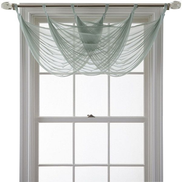Inspiration about Marthawindow™ Voile Waterfall Valance – Jcpenney | House Within Vertical Ruffled Waterfall Valance And Curtain Tiers (#6 of 30)