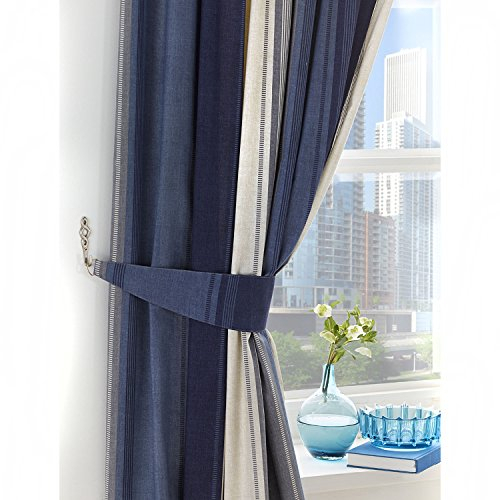 Mason Gray Fusion – Betley – Classic Wide Stripe Unlined For Pleated Curtain Tiers (View 44 of 50)