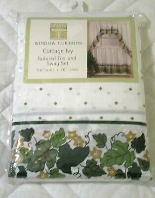 Mason Jars Tier & Swag Kitchen Curtain Cottage Set, 57X36 For Cottage Ivy Curtain Tiers (#39 of 49)