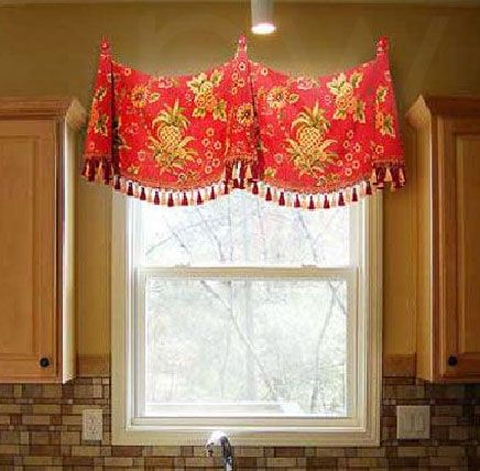 Medallion Swag Valance With Bells In 2019 | Custom Valances Within Medallion Window Curtain Valances (#29 of 48)