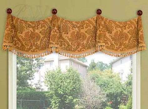 Popular Photo of Medallion Window Curtain Valances