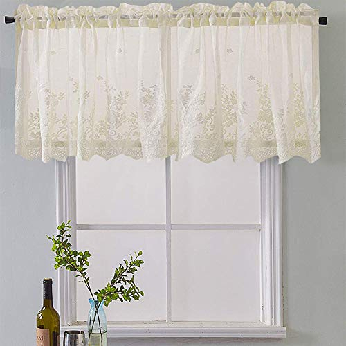 Meiyimi Half Window Voile Semi Sheer Curtain Valances – Home With Regard To Semi Sheer Rod Pocket Kitchen Curtain Valance And Tiers Sets (View 11 of 30)