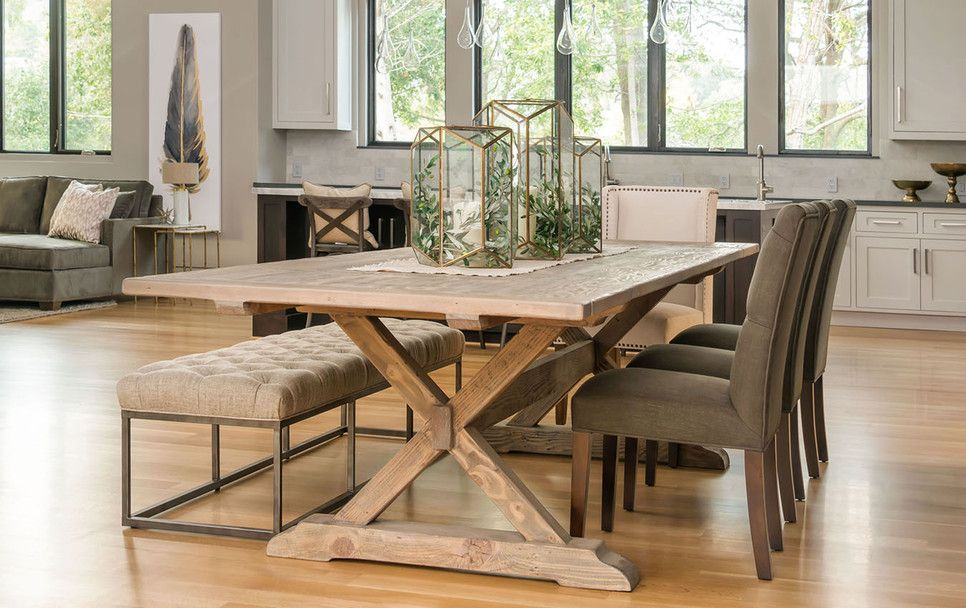 Menlo Reclaimed Wood Extending Dining Tables Within Well Known Harvest Furniture – Stores In Los Gatos, Menlo Park And San (#20 of 30)