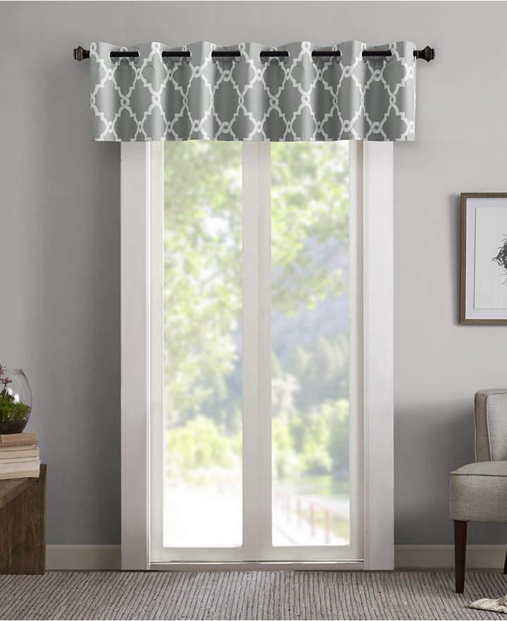 "Merritt 50"" X 18"" Printed Grommet Window Valance Regarding Hudson Pintuck Window Curtain Valances (View 19 of 30)"