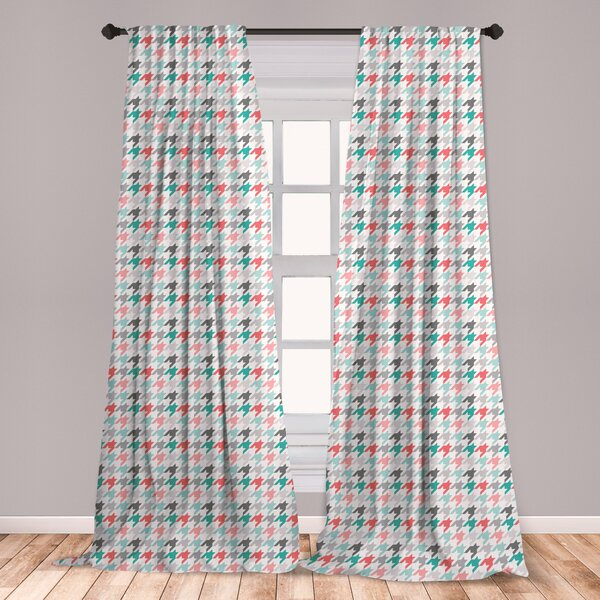 Mint And Coral Curtains | Wayfair For Marine Life Motif Knitted Lace Window Curtain Pieces (#22 of 48)