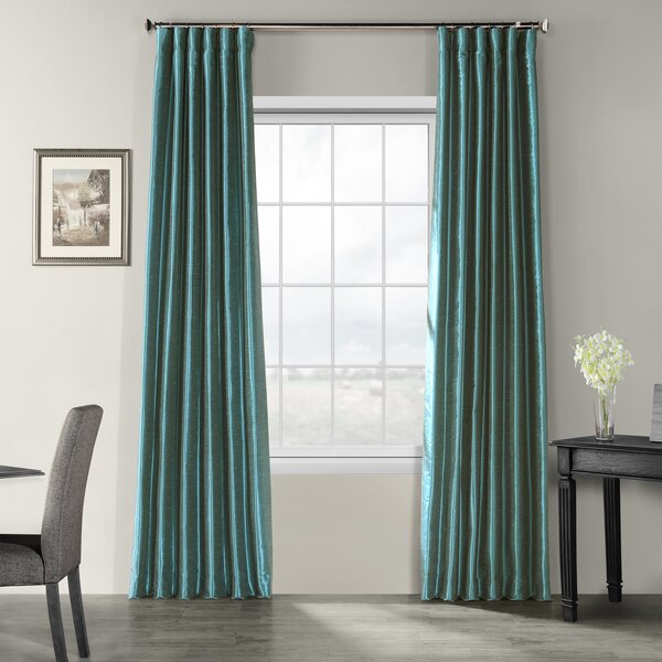 Modern & Contemporary Dining Room Curtains | Allmodern In Faux Silk 3 Piece Kitchen Curtain Sets (View 29 of 44)