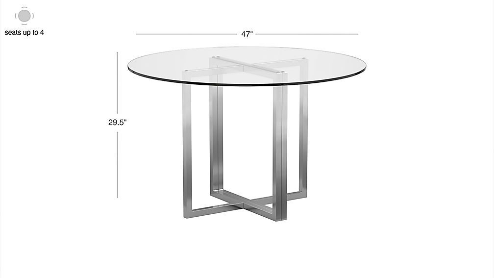 """Montalvo Round Dining Tables In Best And Newest Image With Dimension For Silverado Chrome 47"""" Round Dining (#13 of 20)"""