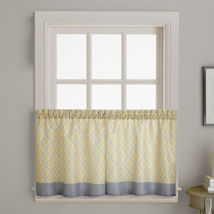 Morocco Tier Curtain Pair   Tier Curtains, Curtains Regarding Floral Watercolor Semi Sheer Rod Pocket Kitchen Curtain Valance And Tiers Sets (View 25 of 50)