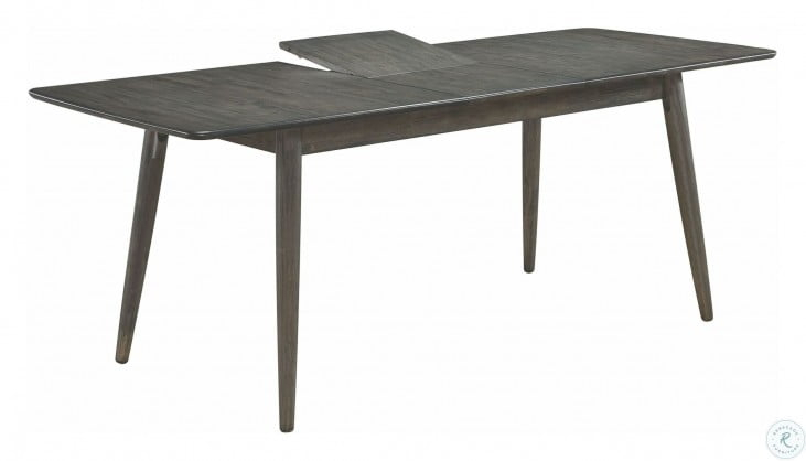 Most Current Gray Wash Livingston Extending Dining Tables Pertaining To Eureka Dark Gray Extendable Dining Table (#19 of 30)