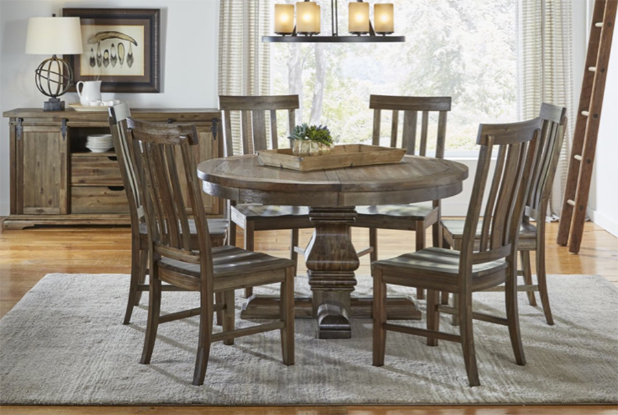 Most Current Prices • A America Dawson Wt Dining Furniture • Al's Woodcraft Regarding Dawson Pedestal Dining Tables (View 13 of 20)