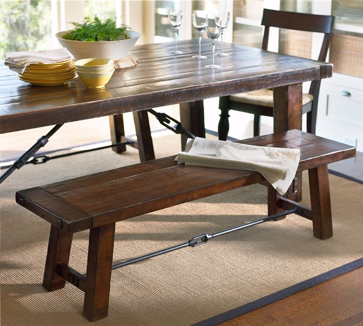 Most Current Rustic Mahogany Benchwright Dining Tables Intended For Tivoli Fixed Pedestal Dining Table Pottery Barn Pottery Barn (View 14 of 20)
