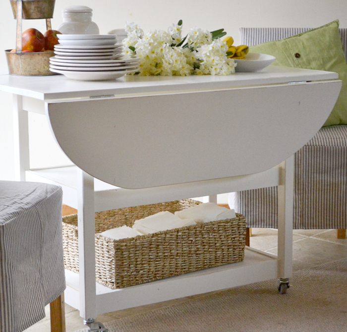 Most Popular Black Shayne Drop Leaf Kitchen Tables Throughout Drop Leaf Round Storage Table (View 19 of 20)
