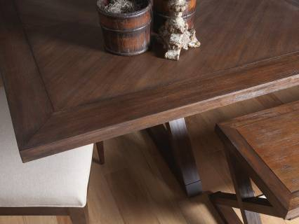 Most Popular Brown Wash Livingston Extending Dining Tables Intended For Ringo Rectangular Dining Table (#10 of 20)