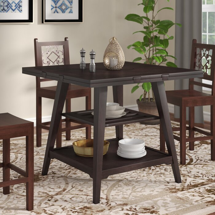 """Most Popular Devereau 60"""" Round Extendable Dining Table Inside James Adjustables Height Extending Dining Tables (#13 of 20)"""