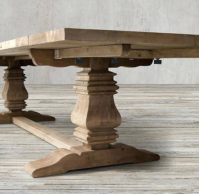 Most Popular Hart Reclaimed Wood Extending Dining Tables In Reclaimed Wood Round Extending Dining Table Salvaged Parsons (#20 of 30)
