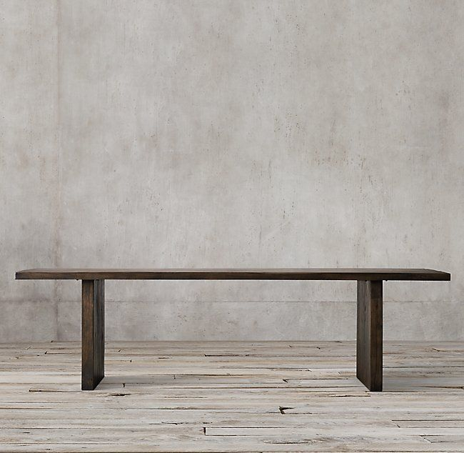 Most Popular Herran Dining Tables Inside Reclaimed Russian Oak Plank Rectangular Dining Table (#12 of 20)