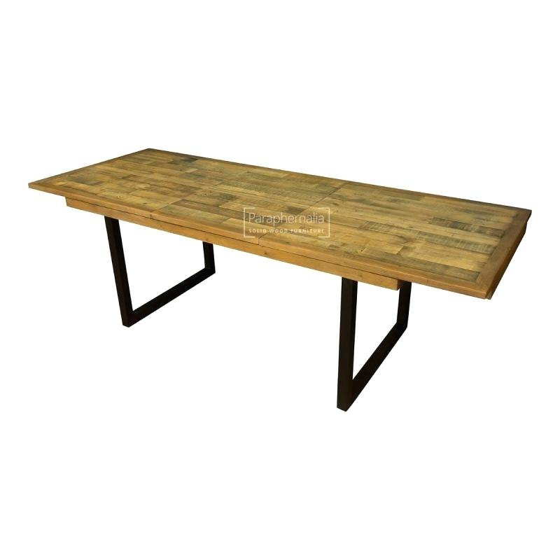 Most Popular Langton Reclaimed Wood Dining Tables Regarding Solid Wood Extendable Dining Table – Trentjonson (#25 of 30)