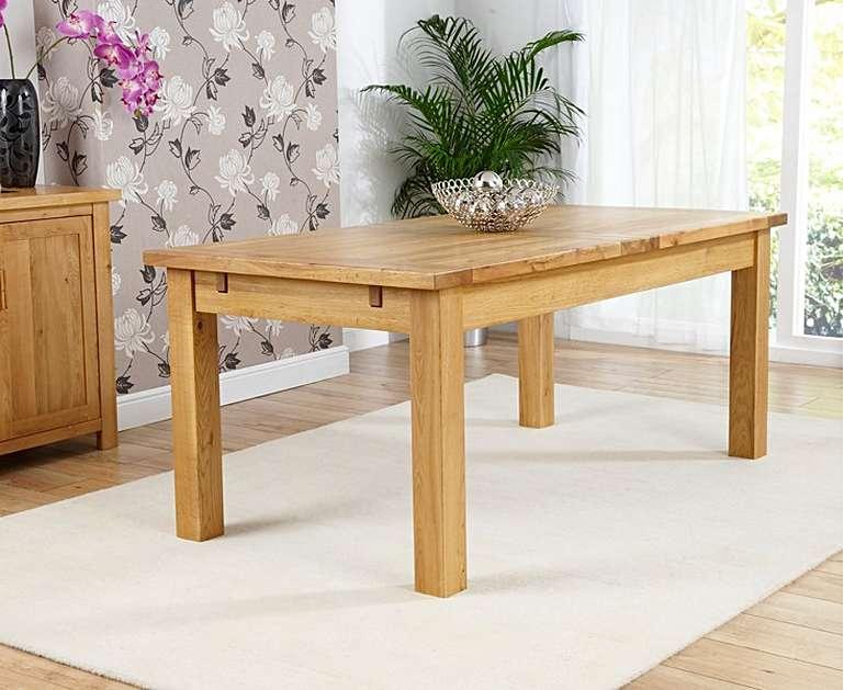 Most Popular Normandy 180Cm Oak Extending Dining Table Throughout Normandy Extending Dining Tables (#13 of 30)