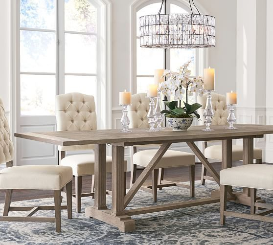 Popular Photo of Gray Wash Livingston Extending Dining Tables