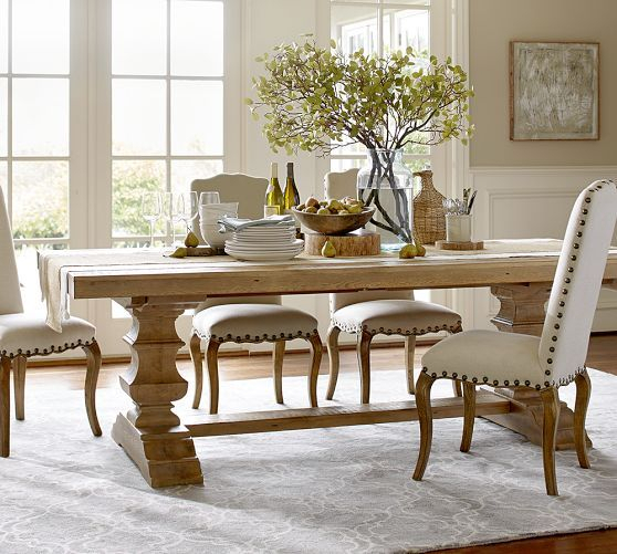 Most Recently Released Gray Wash Banks Pedestal Extending Dining Tables Within Banks Reclaimed Extending Dining Table (#16 of 20)
