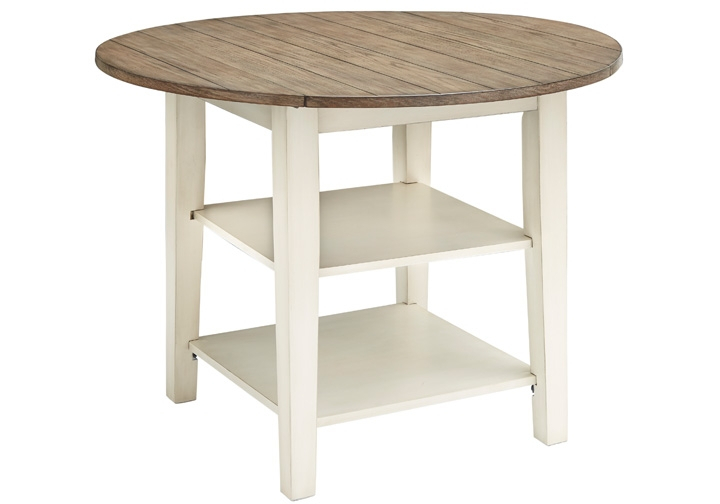 Most Recently Released Mahogany Shayne Drop Leaf Kitchen Tables In Antique White Round Drum Drop Leaf Dining Table – Saltandblues (View 10 of 20)