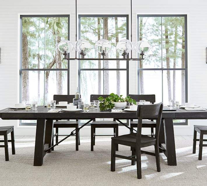 Most Up To Date Benchwright Extending Dining Table, Blackened Oak Pertaining To Gray Wash Benchwright Dining Tables (#14 of 20)