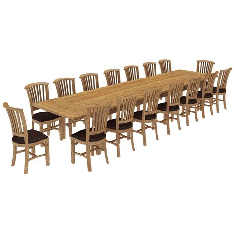 Most Up To Date Brussels Reclaimed Wood 17 Piece Large Extendable Dining In Brussels Reclaimed European Barnwood Dining Tables (#11 of 20)
