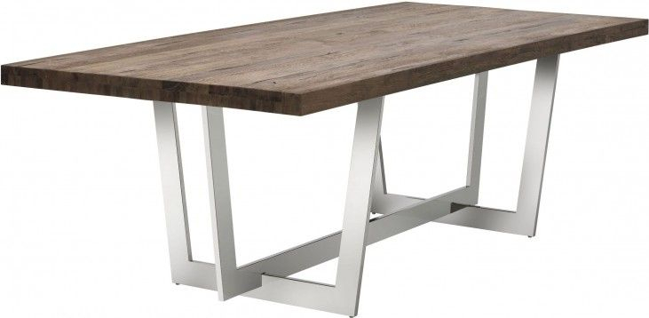 Most Up To Date Ezra Distressed Wood Dining Table From Sunpan (#13 of 20)