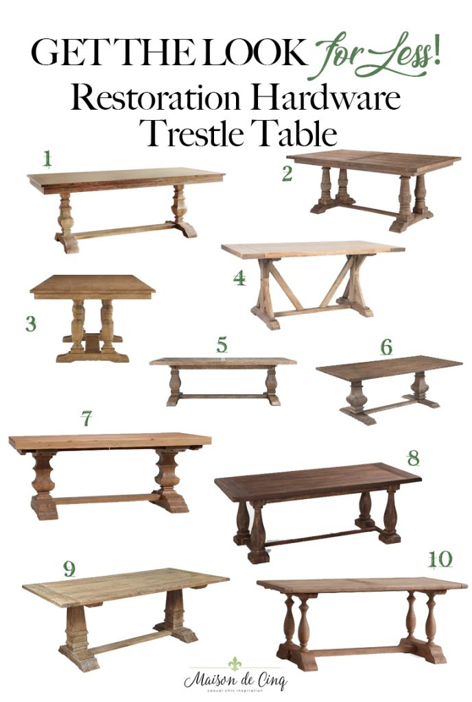 Most Up To Date Parkmore Reclaimed Wood Extending Dining Tables Intended For Best Restoration Hardware Style Farmhouse Dining Tables (#15 of 30)