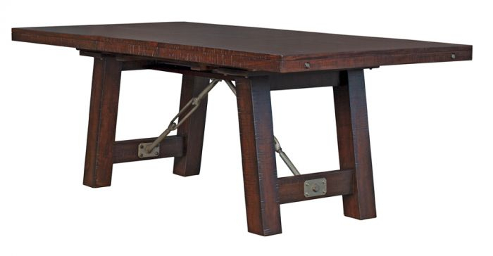 Most Up To Date Rustic Mahogany Extending Dining Tables In Solid Mahogany Wood Sundance Extension Trestle Dining Table In Rustic Mahogany Finish (View 17 of 30)