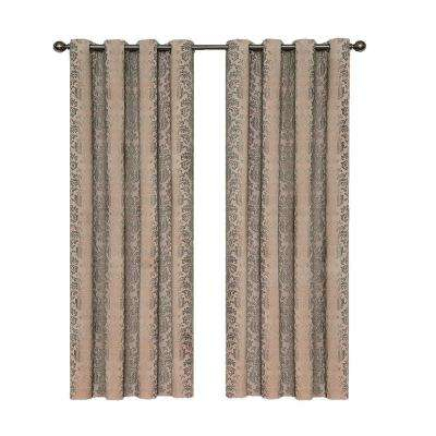 Nadya Print Blackout Window Curtain Panel In Linen – 52 In. W X 108 In (View 15 of 30)