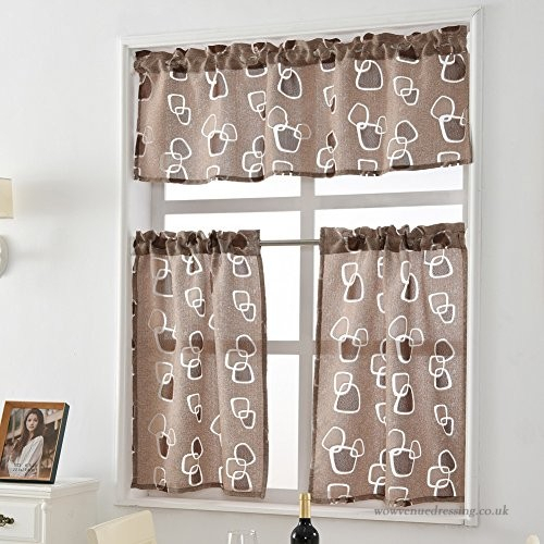 Napearl Rod Pocket Jacquard Kitchen Curtain Tiers And With Kitchen Curtain Tiers (View 35 of 50)