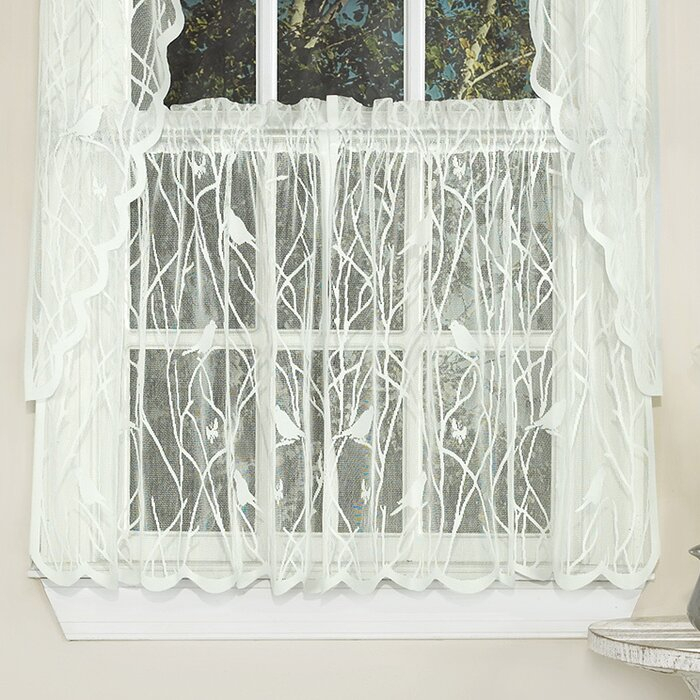 """Nauman 56"""" Cafe Curtain Within Light Filtering Kitchen Tiers (#24 of 50)"""