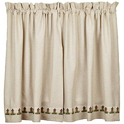 New Primitive Country Farmhouse Chic Outhouse Cafe Tiers Curtains 36"